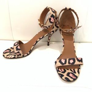GIVENCHY Leopard Print Strappy Sandals Sz 39.5